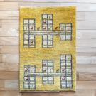 アマレ・88×58・黄色・ヤギ・羊・窓・四角・玄関サイズ・真上画