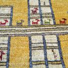 アマレ・88×58・黄色・ヤギ・羊・窓・四角・玄関サイズ・アップ画