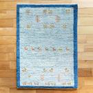 アマレ・88×63・青・羊・ヤギ・木・植物・玄関サイズ・真上画