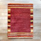 アマレ・90×65・赤・縞模様・鹿・窓・木・玄関サイズ・真上画