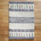 アマレ・95×62・ベージュ・グレー・原毛・植物・糸杉・木・玄関サイズ・真上画
