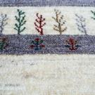 アマレ・95×62・ベージュ・グレー・原毛・植物・糸杉・木・玄関サイズ・アップ画