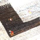 カシュクリ・103×68・茶色・べージュ・原毛・木・鹿・玄関サイズ・アップ画