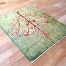 ルリバフ・90×74・緑・ザクロ・花・玄関サイズ・使用イメージ画