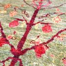 ルリバフ・90×74・緑・ザクロ・花・玄関サイズ・アップ画