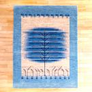 アマレ・198×154・青・水色・生命の樹・原毛・玄関サイズ・真上画