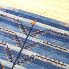 アマレ・198×154・青・水色・生命の樹・原毛・玄関サイズ・アップ画