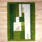 アマレ・179×126・緑・四角・生命の樹・羊・ヤギ・センターラグサイズ・真上画