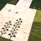 アマレ・179×126・緑・四角・生命の樹・羊・ヤギ・センターラグサイズ・アップ画