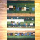 カシュクリ・268×188・緑・四角・窓・木・ヤギ・羊・リビングサイズ・真上画