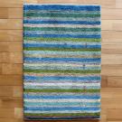 アマレ・92×62・青・縞模様・植物・玄関サイズ・真上画