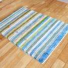 アマレ・92×62・青・縞模様・植物・玄関サイズ・使用イメージ画