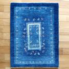 アマレ・84×63・青・孔雀・鳥・窓・玄関サイズ・真上画