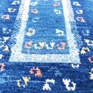 アマレ・84×63・青・孔雀・鳥・窓・玄関サイズ・アップ画