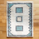 アマレ・84×63・青・水色・ベージュ・原毛・窓・四角・玄関サイズ・真上画