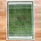 アマレ・150×103・緑・原毛・生命の樹・玄関サイズ・真上画