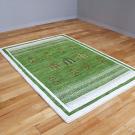 アマレ・150×103・緑・原毛・生命の樹・玄関サイズ・使用イメージ画
