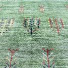 アマレ・150×103・緑・原毛・生命の樹・玄関サイズ・アップ画