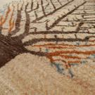 カシュクリ・92×59・原毛・生命の樹・玄関サイズ・アップ画