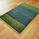 アマレ・玄関マットサイズ・緑色・花・使用イメージ画