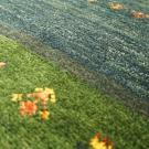 アマレ・玄関マットサイズ・緑色・花・アップ画