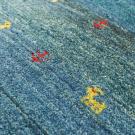 アマレ・玄関マットサイズ・青色・鹿、木・アップ画