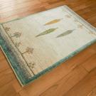 カシュクリ・92×63・原毛・白色・糸杉・玄関サイズ・使用イメージ画