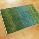 アマレ・玄関マットサイズ・緑色・鹿、花・使用イメージ画