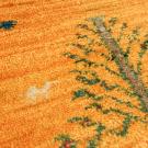 アマレ・57×38・黄色・生命の樹・ラクダ・動物・玄関サイズ・アップ画