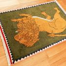 オールドライオン・83×56・緑・王様・ライオン・玄関マットサイズ・使用イメージ画