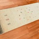 アマレ・152×51・白・原毛・羊・木・廊下敷き・使用イメージ画