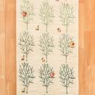 アマレ・137×48・白色・原毛・鹿・孔雀・生命の樹