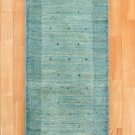 アマレ・149×54・水色・小花・木・植物・廊下敷き・真上画