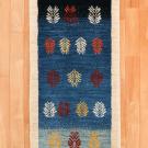アマレ・155×54・青色・グラデーション・木・廊下敷き・キッチンサイズ・真上画