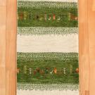 カシュクリ・158×52・緑・白・原毛・鹿・糸杉・廊下敷き・キッチンサイズ・真上画