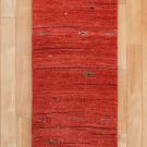 アマレ・赤色・魚・ジグザグ文様・廊下敷き・キッチンサイズ・真上画