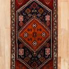 シラーズ・142×60・赤色・廊下敷き・真上画