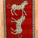オールドライオン・126×86・赤色・玄関サイズ
