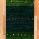 アマレ・玄関マットサイズ・緑色・花・真上画