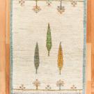カシュクリ・92×63・原毛・白色・糸杉・玄関サイズ・真上画