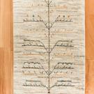 アマレ・玄関マットサイズ・白色、原毛・生命の樹・真上画