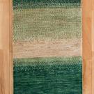 アマレ・玄関マットサイズ・緑色、ベージュ・真上画
