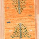 アマレ・57×38・黄色・生命の樹・ラクダ・動物・玄関サイズ・真上画