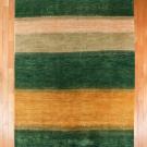 カシュクリ・大型ルームサイズ・緑色、ベージュ、黄色・真上画