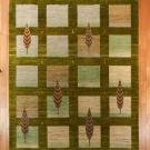 アマレ・大型ルームサイズ・緑色、グラデーション・糸杉・真上画