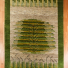 アマレ・大型ルームサイズ・緑色・生命の樹・真上画