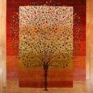 ルリバフ・大型ルームサイズ・赤色、カラフル・グラデーション・生命の樹・真上画