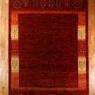 アマレ・大型ルームサイズ・赤色・木、花・真上画