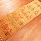 アマレ・155×48・黄色・鹿・孔雀・木・廊下敷き・使用イメージ画