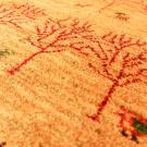 アマレ・155×48・黄色・鹿・孔雀・木・廊下敷き・アップ画